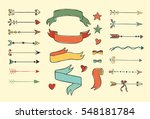 set of hand drawn colorful... | Shutterstock .eps vector #548181784