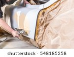 plastering surface of an car in ...   Shutterstock . vector #548185258