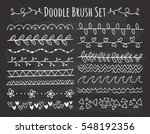 set of doodle brush on... | Shutterstock .eps vector #548192356