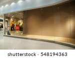 an empty storefront of shop | Shutterstock . vector #548194363