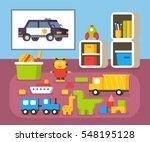 boys room kindergarten. nursery ... | Shutterstock .eps vector #548195128