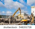 Demolition On Building Site...