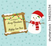 Snowman With White Striped Red...