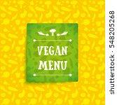 vector vegan food restaurant... | Shutterstock .eps vector #548205268