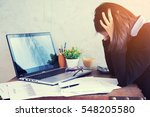 feeling tired and stressed... | Shutterstock . vector #548205580