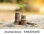 selective focus thai money... | Shutterstock . vector #548205640