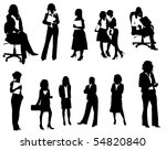 business women | Shutterstock .eps vector #54820840