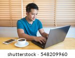 young man wearing casual cothes ... | Shutterstock . vector #548209960