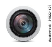 camera photo lens on a white... | Shutterstock .eps vector #548224624