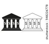 bank    black vector icon   Shutterstock .eps vector #548226778