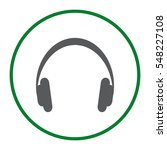 headphone icon vector flat... | Shutterstock .eps vector #548227108