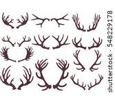 silhouettes of deer antlers | Shutterstock .eps vector #548229178