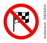 no racing flag icon.  | Shutterstock .eps vector #548230324
