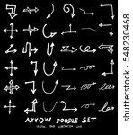 vector hand drawn arrows set... | Shutterstock .eps vector #548230468