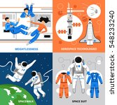 astronauts in space and... | Shutterstock .eps vector #548233240