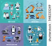 robots concept icons set with... | Shutterstock .eps vector #548233249