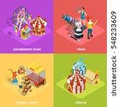 travel circus performance 4... | Shutterstock .eps vector #548233609