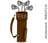 golf bag and clubs isolated on...   Shutterstock .eps vector #548237110