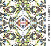 mosaic square colorful pattern... | Shutterstock . vector #548238934