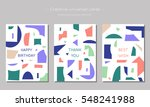 set of creative universal cards.... | Shutterstock .eps vector #548241988