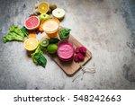 detox juice | Shutterstock . vector #548242663