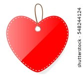red shinning blank love shaped... | Shutterstock .eps vector #548244124