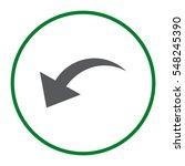 arrow icon vector flat design... | Shutterstock .eps vector #548245390