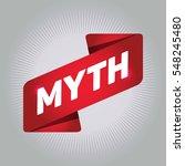 myth arrow tag sign. | Shutterstock .eps vector #548245480