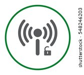 wifi icon vector flat design...   Shutterstock .eps vector #548246203