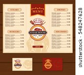 template for the restaurant menu | Shutterstock .eps vector #548247628