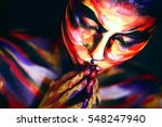 portrait of the bright...   Shutterstock . vector #548247940