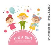 baby shower concept with a cute ... | Shutterstock .eps vector #548253280
