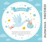 Baby Shower Frame. Stork...