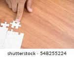 finger point holding connecting ... | Shutterstock . vector #548255224