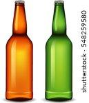 blank glass beer bottle for new ... | Shutterstock .eps vector #548259580