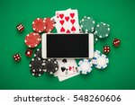 Online Casino Concept  Playing...