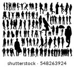 big set of woman and man... | Shutterstock .eps vector #548263924