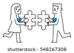 man and woman. two pieces of... | Shutterstock .eps vector #548267308