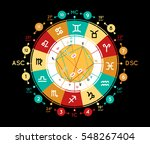 astrology background. example... | Shutterstock .eps vector #548267404