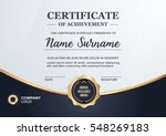 certificate design   diploma... | Shutterstock .eps vector #548269183