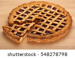 homemade strawberry jam tart... | Shutterstock . vector #548278798