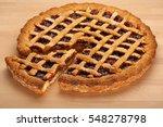 homemade strawberry jam tart... | Shutterstock . vector #548278798