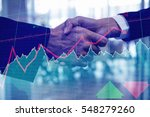 stocks and shares against... | Shutterstock . vector #548279260