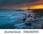 pigeon point lighthouse during... | Shutterstock . vector #548280544