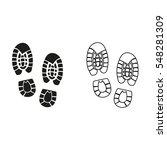 shoe print    black vector icon   Shutterstock .eps vector #548281309