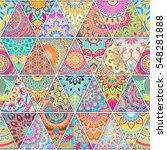 seamless mandalas pattern.... | Shutterstock .eps vector #548281888