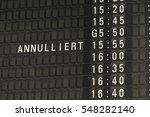 german airport departure board...   Shutterstock . vector #548282140