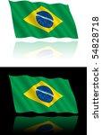 brazilian flag flowing | Shutterstock .eps vector #54828718