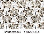hibiscus flowers seamless... | Shutterstock . vector #548287216