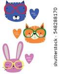 cute animals | Shutterstock .eps vector #548288170